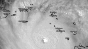 Hurricane satellite photo