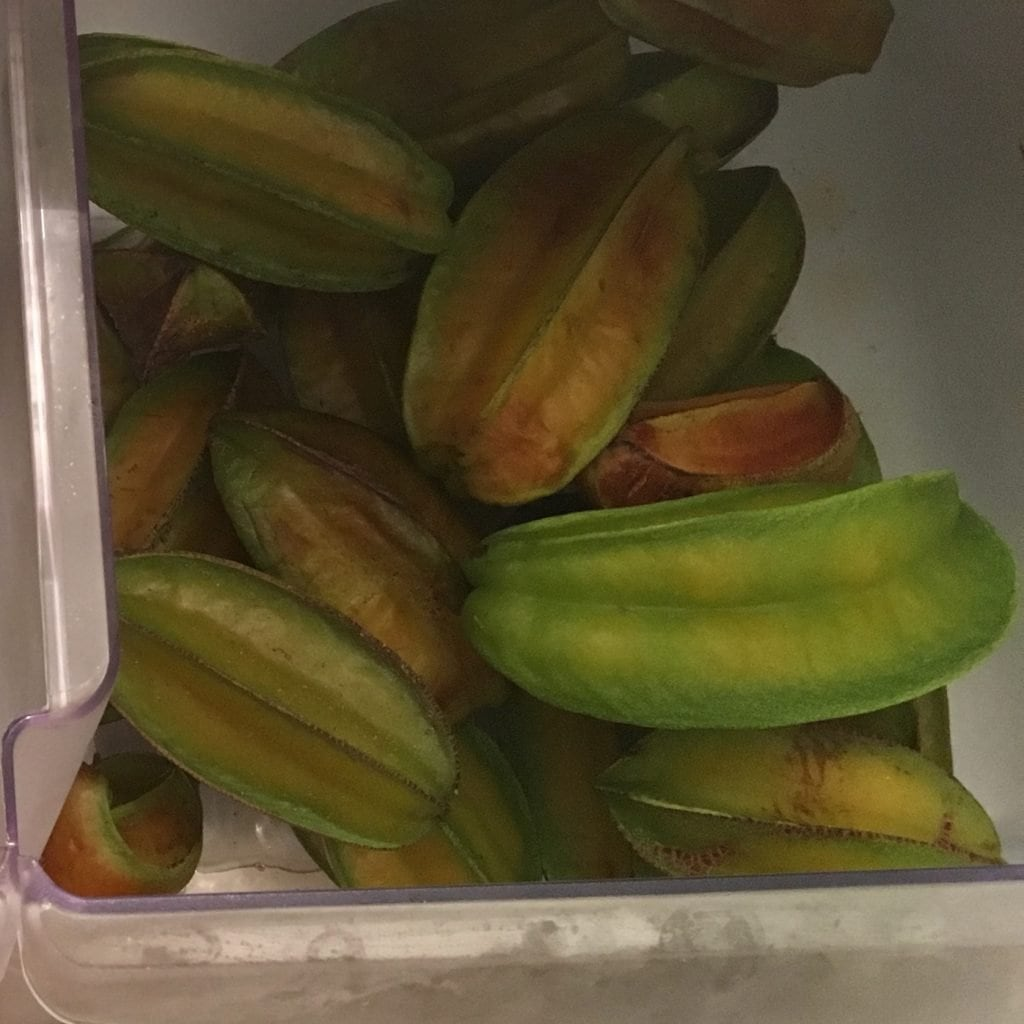 Carambola fruit in the refrigerator