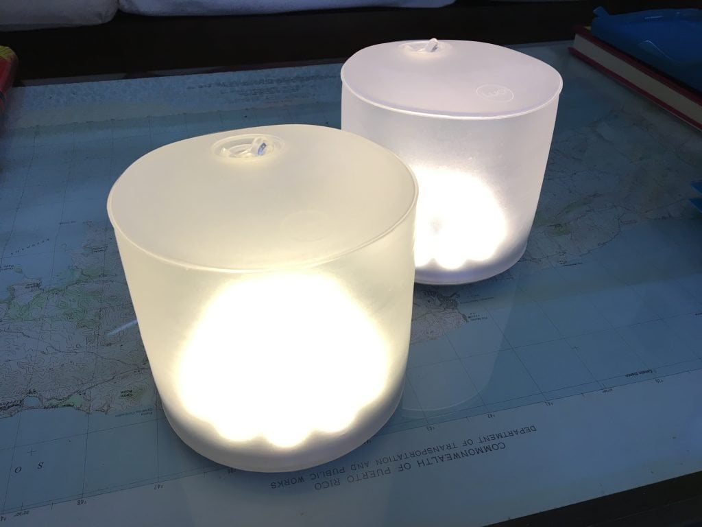Cylindrical inflatable solar lights