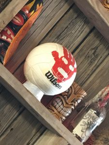 Wilson volleyball with blood stain, from the movie Castaway