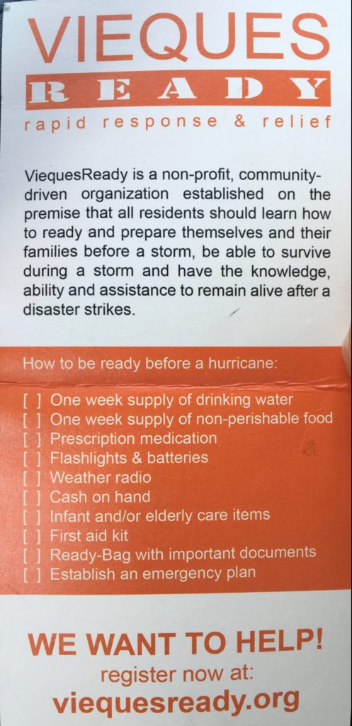 Checklist for Hurricane Prep