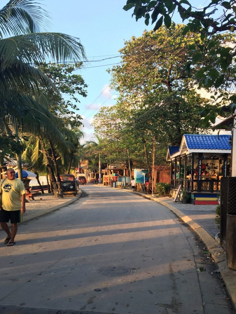 Quiet beachfront street