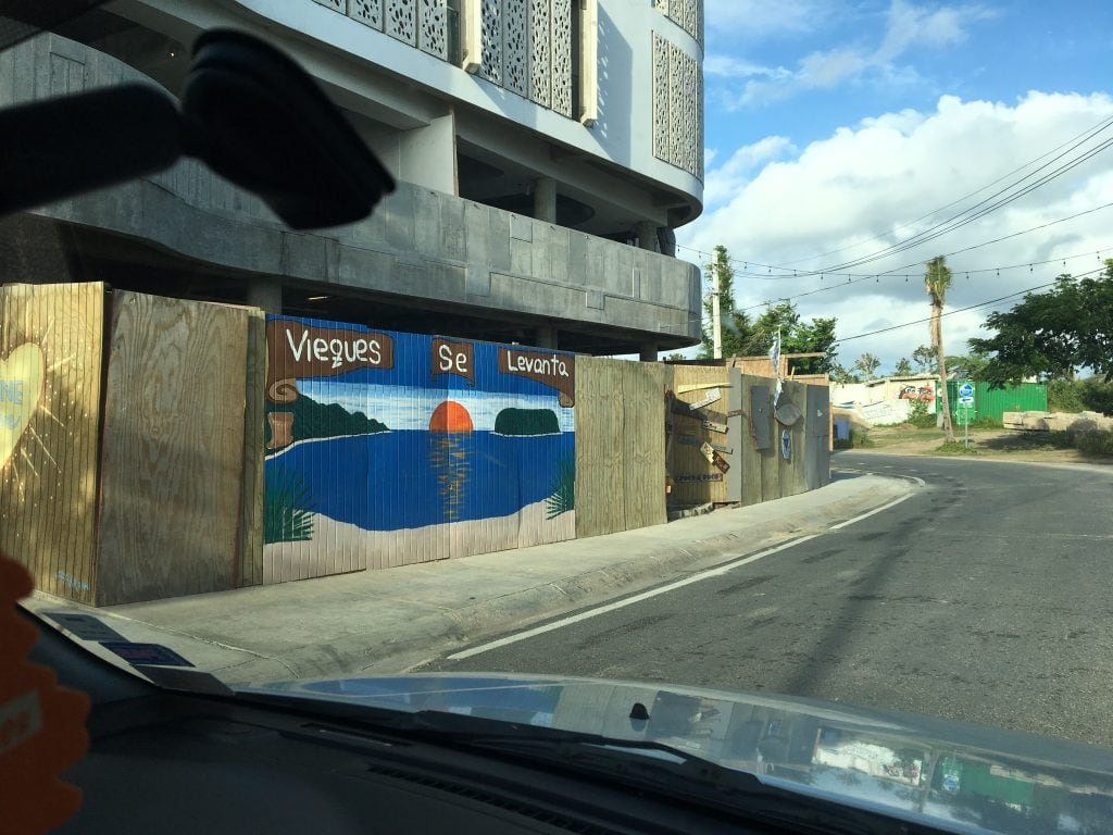 "Under construction, but ""Vieques will Rise"""
