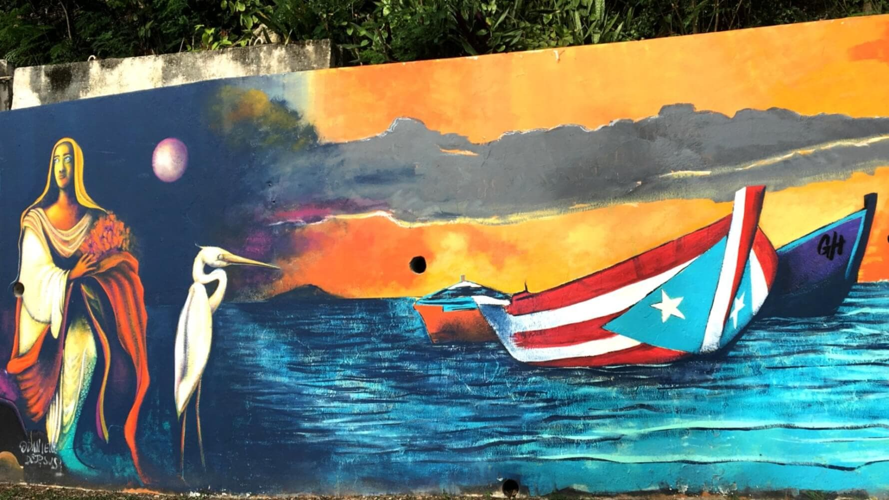 Mural in western Puerto Rico