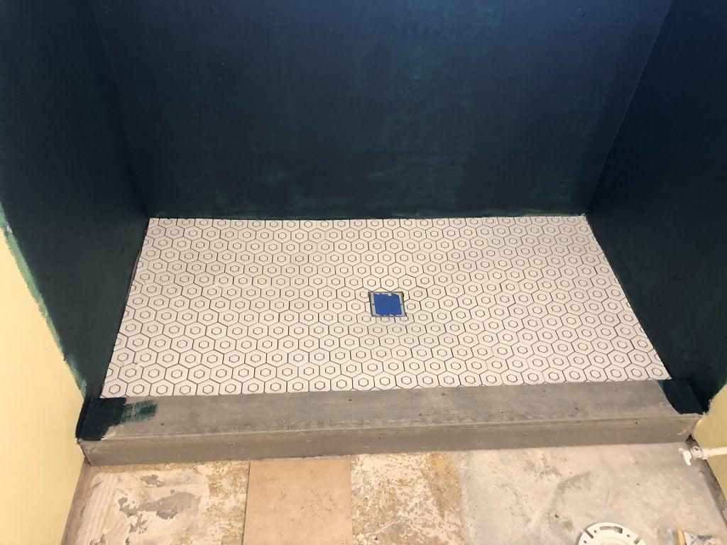 Shower base done!