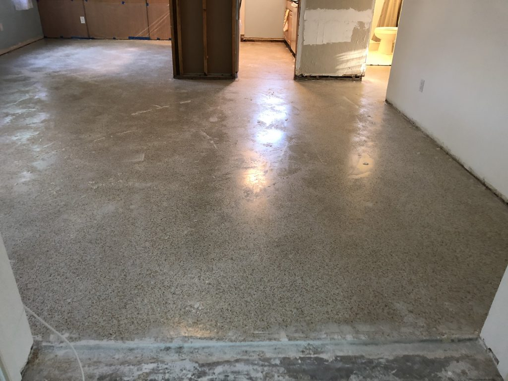 After the first day - epoxy drying