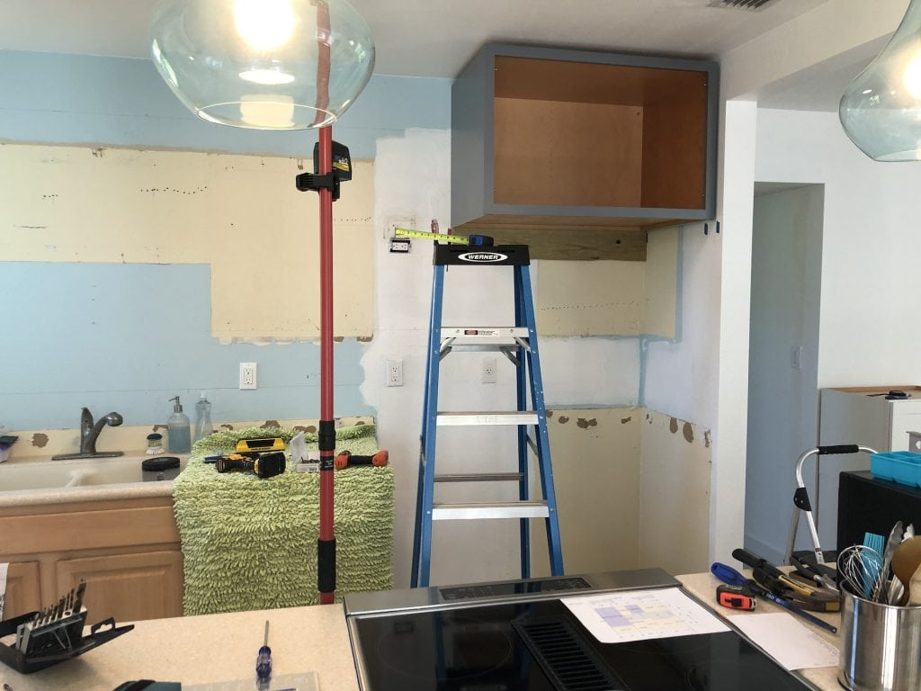 New cabinets going in